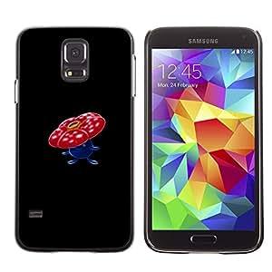 A-type Arte & diseño plástico duro Fundas Cover Cubre Hard Case Cover para Samsung Galaxy S5 (Meter monstruo rojo de la flor de la seta)