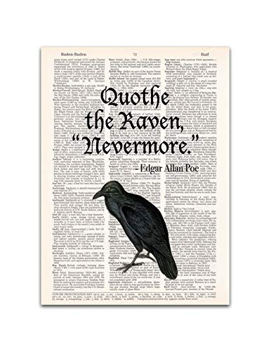 The Raven, Edgar Allan Poe Quote, Dictionary Page Art Print, 8x11 inches, Unframed]()