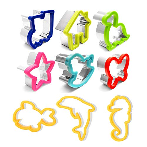 Sandwich Cutters for Kids - Large Cookie Cutter - Child Safe BPA Free Plastic to Protect Little Hands- Bread Crust Toast - Fun Shapes for Use with Toddlers - Durable Molds