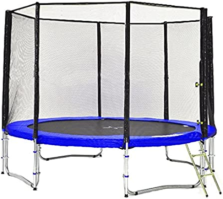 Simple Buy - Typ Classic - Cama Elastica - Trampoline de Jardin - Diferentes tamaños y Colores: probados para Seguridad y Funcionamiento (305cm con 8 Polos, Azul): Amazon.es: Juguetes y juegos