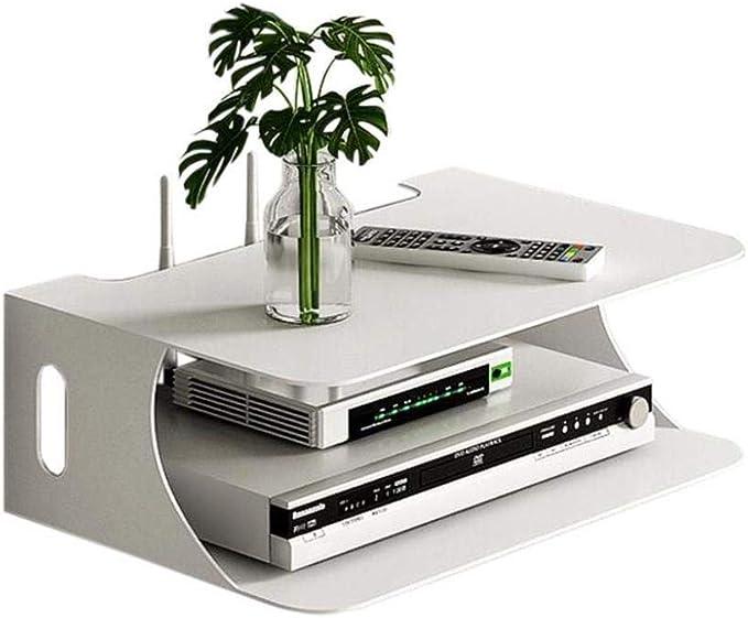 YJLGRYF Iron Art WiFi Router Caja de Almacenamiento Set-Top Box Rack TV Colgante de Pared Sala de Estar Dormitorio Montaje Estante Flotante Mueble de TV para Colgar en la Pared: Amazon.es: Hogar