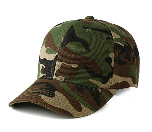 UltraKey Mens Army Military Camo Cap Baseball Casquette Camouflage Hats for Men Hunting (Green) Army Baseball Cap Hat