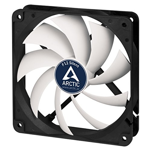 ARCTIC F12 Silent - Ultra-Quiet 120 mm Case Fan | Silent Cooler with Standard Case | almost inaudible | Push- or Pull Configuration possible (Quiet Ultra Fan)