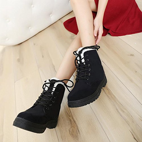 Hatop Fashion Winter Women Shoes Snow Boots Warm Short Boots Black HdDsXJ3mk