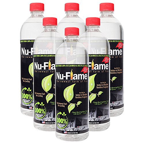 Nu-Flame Bio Ethanol Ventless Fireplace Fuel by, 6 Liters