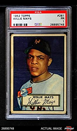 Amazoncom 1952 Topps 261 Willie Mays New York Giants Baseball