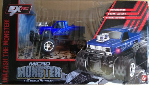 Micro Crawler Rock - Excalibur Micro Monster 1:40 Scale Radio Controlled Truck - Blue