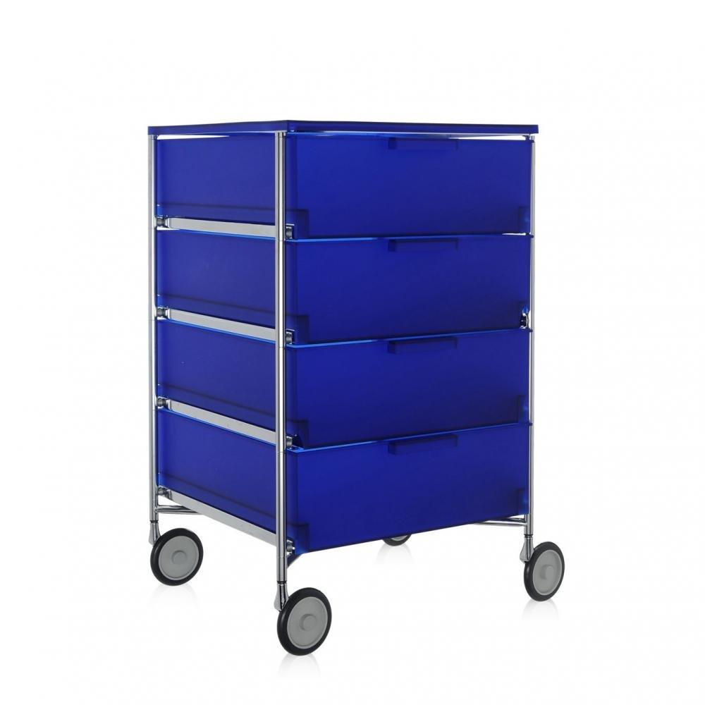Kartell 2024L2 Container Mobil, 4 Schubladen, kobaltblau