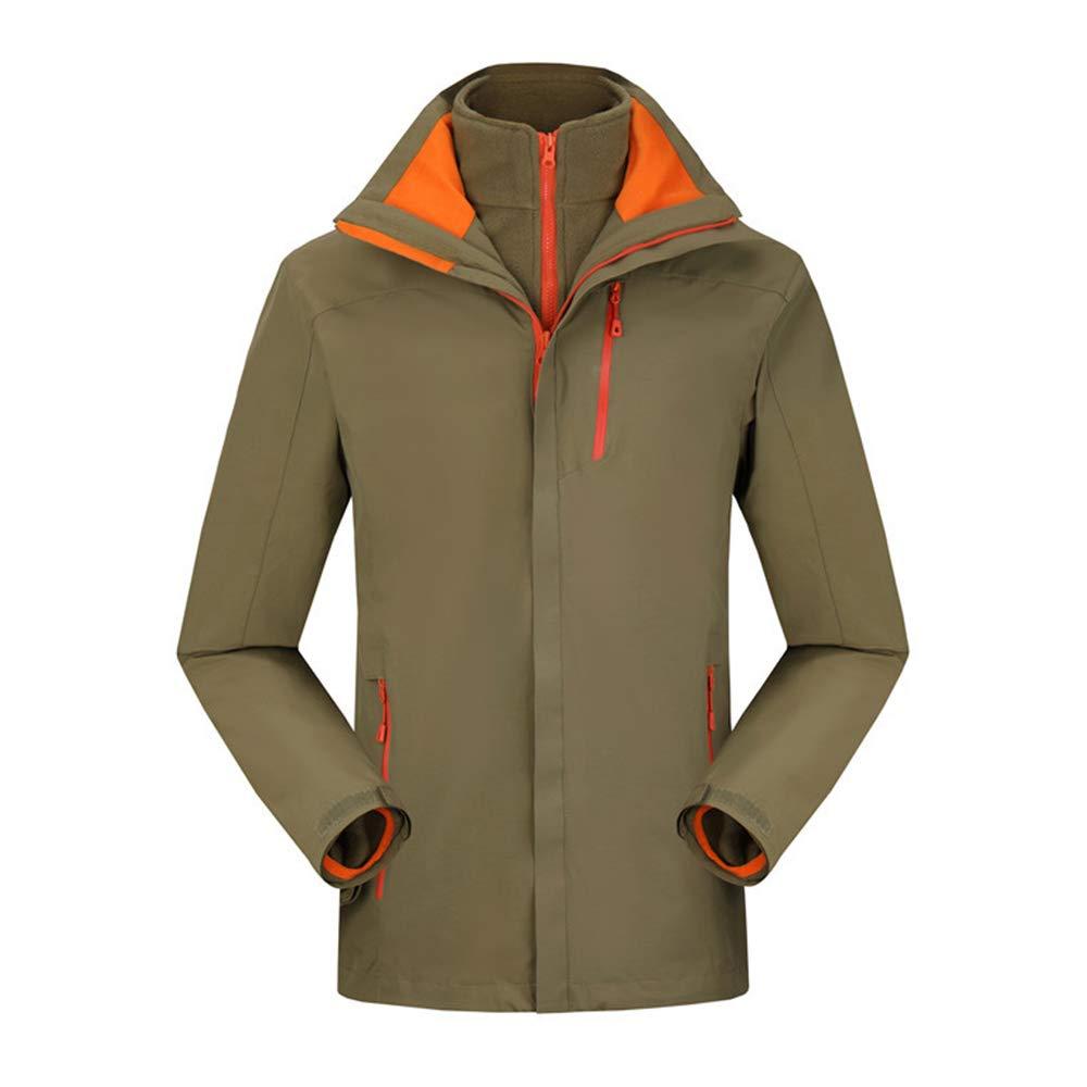 Alte Grün Atmungsaktive Warme Sportbekleidung, Herren-Outdoor-Zweiteilige DREI-In-Eins-Wasserdicht und Winddicht
