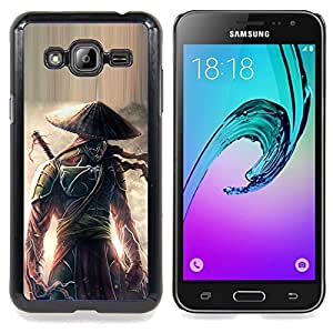 - Eclipse warrior Japanese Samurai/ Hard Snap On Cell Phone Case Cover - Cao - For Samsung Galaxy J3