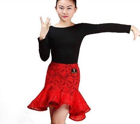 Vestido de Split Danza Nuevas Muchachas de Baile Latino Salsa del ...