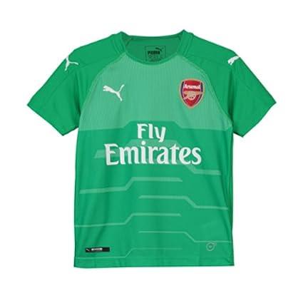 9ce11b344 Amazon.com   PUMA 2018-2019 Arsenal Home SS Goalkeeper Football ...