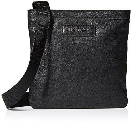 Armani Jeans Men's Pu Logo Patch Small Shoulder Bag, (Armani Shoulder Bag)
