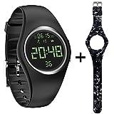 Cheap feifuns Pedometer Watch IP68 Swim Watch Waterproof Activity Tracker with Pedometer Step Counter/Distance/Calorie/Clock/Timer for Walking Running Kids Men Women