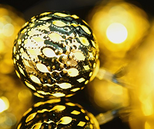 Battery Powered Globe Lights - Gold
