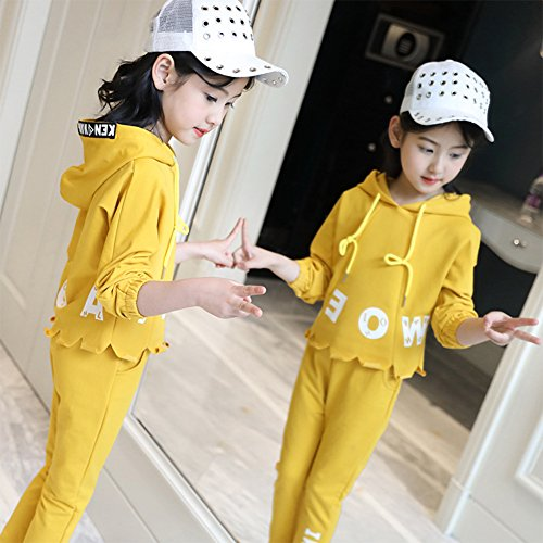 M&A Girls Fashion Tracksuit Clothing Set Hoodie + Pants Spring Autumn by M&A (Image #3)
