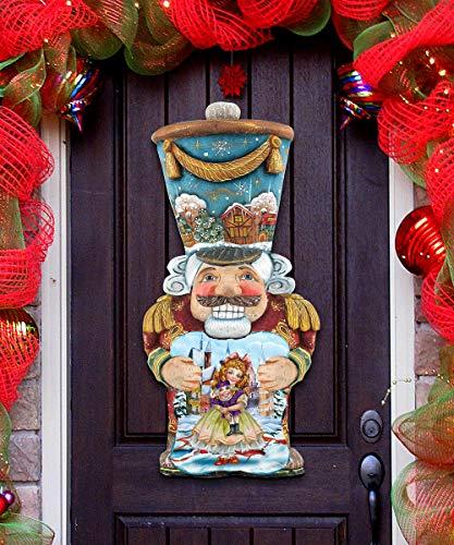 G. Debrekht Nutcracker Christmas Decorations - Home Garden Outdoor Indoor Wall Door Decorations - Nutcracker Wooden Holiday Wall/Door Hanging Wall Décor 8116430H from G. Debrekht