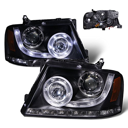 Sppc Black Headlights For Ford F150 Passenger And Driver Side