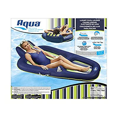 Aqua AZL16263 Oversized Deluxe Pool Lounger, Inflatable Pool Float