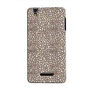 Cover It Up - Brown Maroon Pebbles Mosaic YU Yureka Hard Case