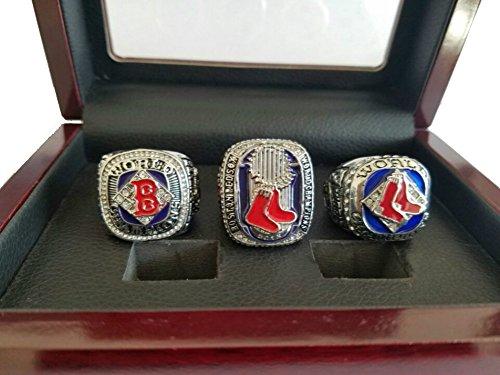 YIYICOOL BT N 2004 2007 2013 red Sox championship ring Display Box ()