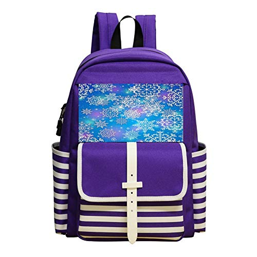Dream Snowflake Schoolbag Large Primary School Leisure Bag Children