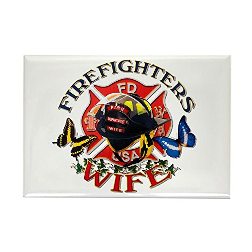 Rectangle Magnet Firefighters Wife ()