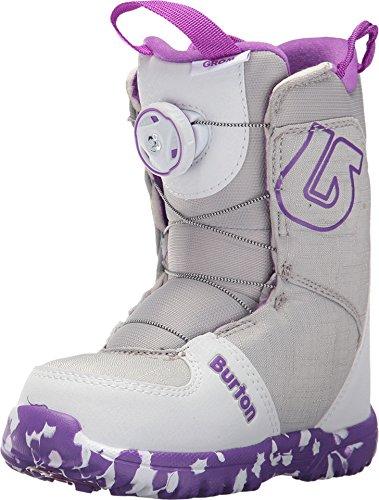Ride White Snowboard Boots (Burton - Youth Grom Boa Snowboard Boots 2018, White/Purple, 12C)
