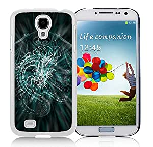 Unique And Antiskid Designed Cover Case For Samsung Galaxy S4 I9500 i337 M919 i545 r970 l720 With Chinese Dragon White Phone Case
