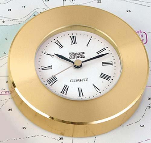 Brass Paperweight: Clock Chart Weight
