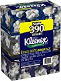 Kleenex Facial Tissue With Lotion, 3-Ply Tissues, 3 Packs, 130 Tissues Each (Pack of 12)