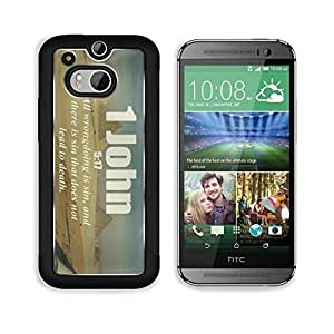 Bible Verses Quote 1 John 5_17 All wrongdoing is sin and there is sin that does not lead to death MSD HTC M8 Cover Premium Aluminium Design TPU Case Open Ports Customized Made to Order by mcsharks
