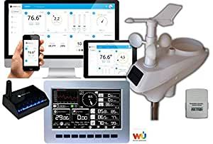 Ambient Weather WS-1200-IP Observer Solar Powered Wireless Internet Remote Monitoring Weather Station with Solar Radiation and UV