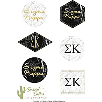 Amazon Sigma Kappa Monogram In Floral Sticker 3 Inch Sorority