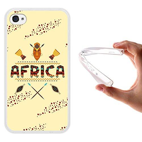WoowCase Hülle Case für { iPhone 4 iPhone 4S } Handy Cover Schutzhülle Afrikanische Symbolen
