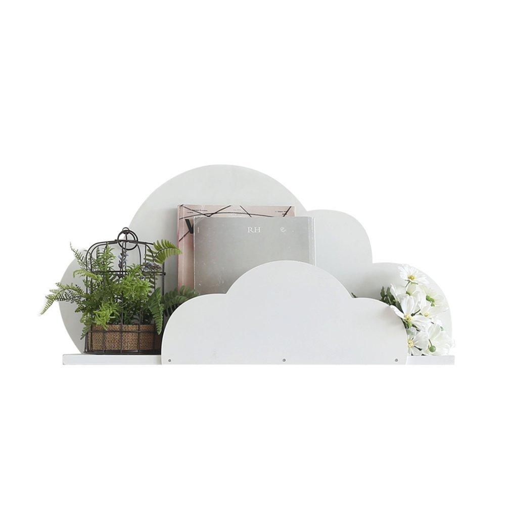 WENZHE 棚ウォールシェルフ,壁挂架搁板 コーナーシェルフホワイトウッディークリエイティブ雲モデリングインドア装飾現代シンプルで、80 * 14 * 40cm オープンシェルフラック B079FFTYG8
