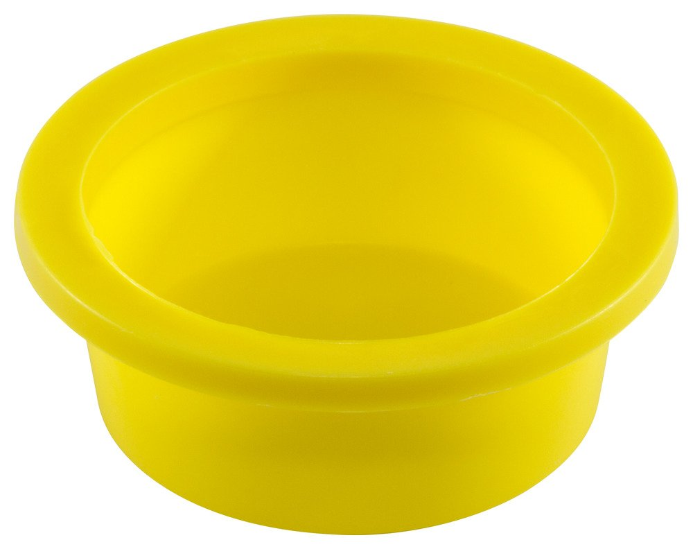 Caplugs 99191394 Plastic Tapered Cap and Plug with Wide Thick Flange WW-17, PE-LD, Cap OD 1.377'' Plug ID 1.603'', Yellow (Pack of 200)