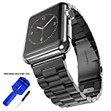 Best Series For IPhones - Palestrapro Black Stainless Steel iWatch Bands for Men Review