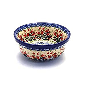 Polish Pottery Soup and Salad Bowl – Crimson Tulip