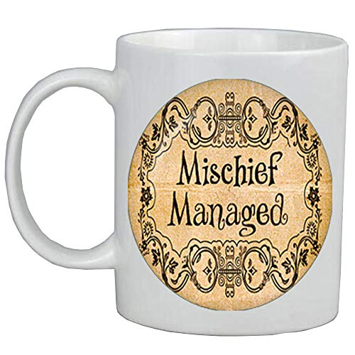 Mischief Managed Mug.Hogwarts map jewelry.Birthday gift,book jewelry book Coffee Mug quote Coffee Mug,librarian gift,book worm jewellery,ot190]()
