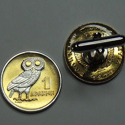 Greek  Owl - 2 Toned (Uniquely Hand Done) Silver on Gold coin cufflinks for men - men's jewelry men's accessories for him groomsmen by J&J Coin Jewelry