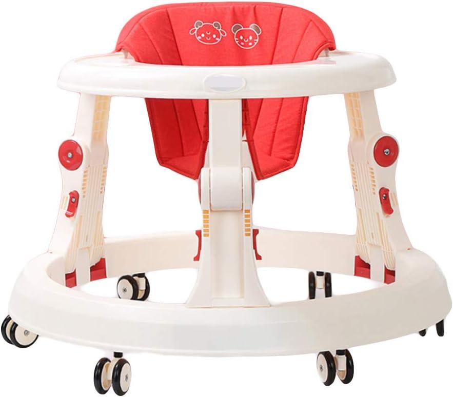NXLWXN Andador Bebés Ajuste De Altura Andador para Bebés Plegable con Un Freno