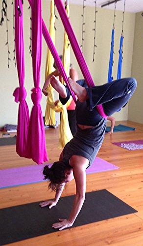dasking deluxe 10 yards 10m set  yoga swing aerial yoga hammock kit with all hardware fabric  u0026 guide  pink  dasking deluxe 10 yards 10m set  yoga swing aerial yoga hammock      rh   yogaaccessoriesstore