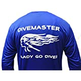 Dixie Divers Longsleeve Wicking Shirt DiveMaster Lady Go Diver Fast Dry Boat Kayak Canoe Diving Fishing Shirt UPF 50 Sun Protection Dive Apparel Long Sleeve