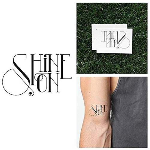 Tattify Shine On Temporary Tattoo - Bedazzle (Set of 2) - Other Styles Available - Fashionable Temporary -
