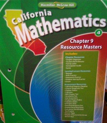 Chapter 9 Resource Masters Grade 4 (California Mathematics, Math Connects) PDF