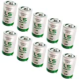 10x SAFT LS33600_TAB D 3.6V 1700mAh Primary Lithium Thionyl Chloride Battery