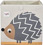 3 Sprouts Storage Box, Hedgehog, Grey