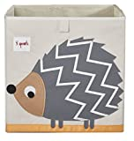 3 Sprouts Storage Box, Hedgehog, Grey