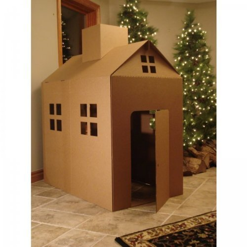 Cardboard Playhouse Corrugated Box Play House